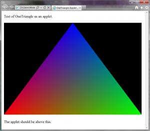 Using JOGL in a Java applet - JogampWiki